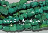 CNT234 15.5 inches 6*9mm bone natural turquoise beads wholesale