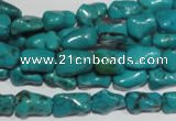 CNT237 15.5 inches 7*10mm bone natural turquoise beads wholesale