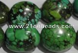 CNT259 15.5 inches 19*24mm nuggets natural turquoise beads wholesale