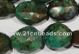 CNT275 13*18mm - 18*23mm faceted nuggets natural turquoise beads