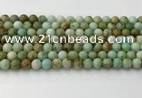CNT416 15.5 inches 6mm round mongolian turquoise beads wholesale