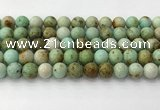 CNT418 15.5 inches 10mm round mongolian turquoise beads wholesale