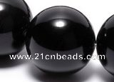 COB07 15.5 inches 18mm round black obsidian gemstone beads wholesale