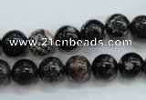 COB170 15.5 inches 10mm round snowflake obsidian beads