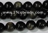 COB255 15.5 inches 12mm round golden obsidian beads wholesale