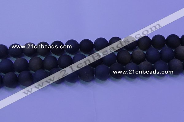 COB281 15.5 inches 12mm round matte golden obsidian beads wholesale