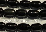 COB462 15.5 inches 10*14mm drum black obsidian beads wholesale