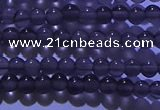COB700 15.5 inches 4mm round ice black obsidian beads wholesale