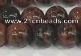 COB753 15.5 inches 10mm round mahogany obsidian beads wholesale