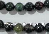 COJ303 15.5 inches 10mm round Indian bloodstone beads wholesale