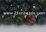 COJ312 15.5 inches 8mm faceted round Indian bloodstone beads