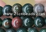 COJ331 15.5 inches 6mm round Indian bloodstone beads wholesale