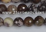 COJ362 15.5 inches 8mm faceted round outback jasper beads