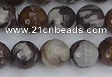 COJ364 15.5 inches 12mm faceted round outback jasper beads