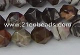 COJ372 15.5 inches 8mm faceted nuggets outback jasper beads