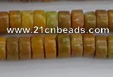 COJ620 15.5 inches 3*6mm heishi orpiment jasper beads