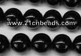 CON06 15.5 inches 14mm round black onyx gemstone beads