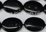 CON35 15.5 inches 18*25mm oval black onyx gemstone beads