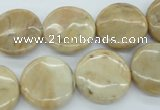 COP1122 15.5 inches 18mm flat round African opal gemstone beads