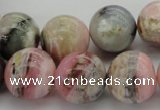 COP1256 15.5 inches 16mm round natural pink opal gemstone beads