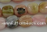 COP1299 15.5 inches 12*12mm square natural pink opal beads