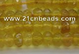 COP1310 15.5 inches 4*6mm faceted rondelle yellow opal gemstone beads
