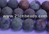 COP1352 15.5 inches 8mm round matte green opal gemstone beads