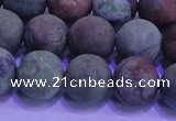 COP1353 15.5 inches 10mm round matte green opal gemstone beads