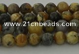 COP1381 15.5 inches 6mm round moss opal gemstone beads whholesale