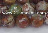 COP1397 15.5 inches 12mm faceted round African green opal beads