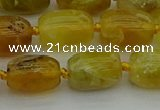 COP1421 15.5 inches 12*16mm drum yellow opal gemstone beads