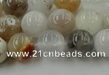 COP1452 15.5 inches 8mm round grey opal gemstone beads