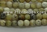 COP1470 15.5 inches 4mm faceted round African opal gemstone beads