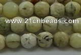 COP1471 15.5 inches 6mm faceted round African opal gemstone beads