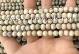 COP1560 15.5 inches 4mm round matte African opal beads