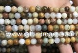 COP1567 15.5 inches 6mm round yellow moss opal beads wholesale