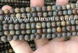 COP1578 15.5 inches 4mm round Australia brown green opal beads