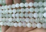 COP1636 15.5 inches 8mm round natural green opal beads