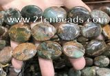 COP1655 15.5 inches 18*25mm oval green opal gemstone beads