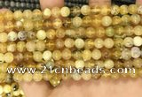 COP1759 15.5 inches 6mm round yellow opal beads wholesale