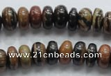 COP202 15.5 inches 7*12mm rondelle natural brown opal gemstone beads