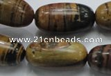 COP209 15.5 inches 15*30mm rice natural brown opal gemstone beads