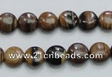 COP210 15.5 inches 10mm flat round natural brown opal gemstone beads