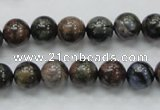 COP266 15.5 inches 10mm round natural grey opal gemstone beads