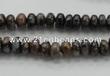 COP268 15.5 inches 4*8mm rondelle natural grey opal gemstone beads
