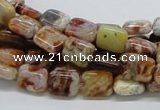 COP305 15.5 inches 8*10mm rectangle brandy opal gemstone beads wholesale
