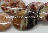 COP307 15.5 inches 22*30mm oval brandy opal gemstone beads wholesale