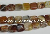 COP320 15.5 inches 8*8mm square brandy opal gemstone beads wholesale