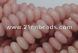 COP408 15.5 inches 5*10mm rondelle Chinese pink opal gemstone beads