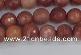 COP442 15.5 inches 6mm faceted round African blood jasper beads